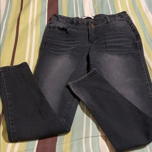Girls Black Skinny Jeans.